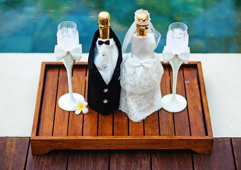 champagneglas bröllop