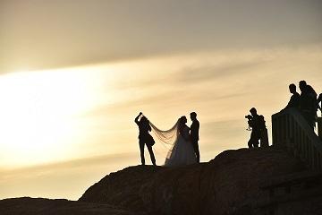 Fotografering Bröllop På Klippa