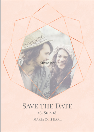 Save the Date - kort från Optimal Print